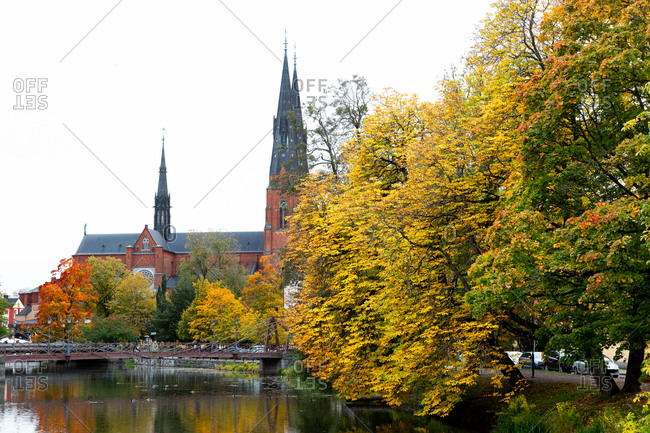 Uppsala, Sweden - October 6, 2018: Uppsala Cathedral