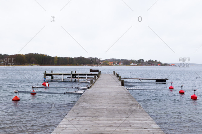 View of dock on Reso Island, Sweden