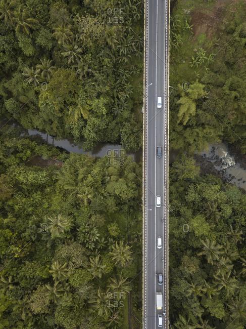 Indonesia- Bali- Aerial view of Bali island