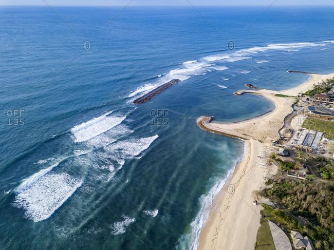 Indonesia- Bali- Nusa Dua- Aerial view of Nikko beach