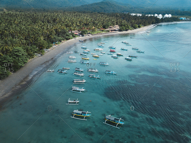 September 19, 2018: Indonesia- Bali- Aerial view of beach