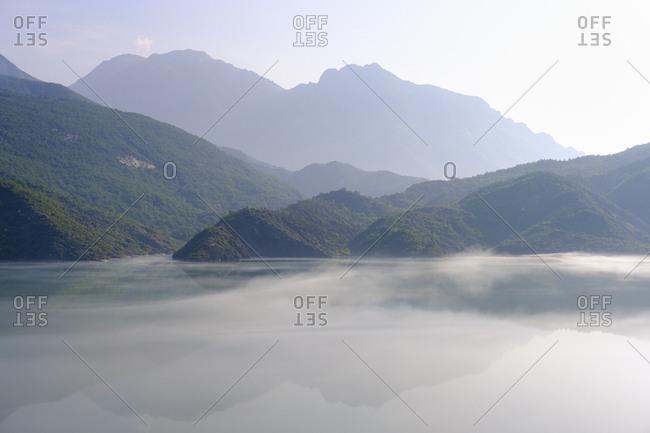 Albania- Shokdra- Dam Liqeni i Vaut te Dejes in the morning
