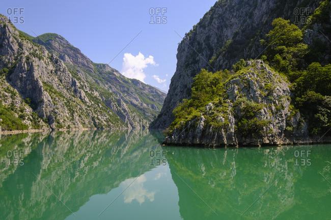 Albania- Shkoder- Drin river- Koman Lake