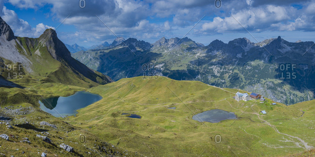 Germany- Bavaria- Allgaeu- Allgaeu Alps- Lake Rappensee and Small Rappensee- Rappensee hut- Schafalpenkoepfe