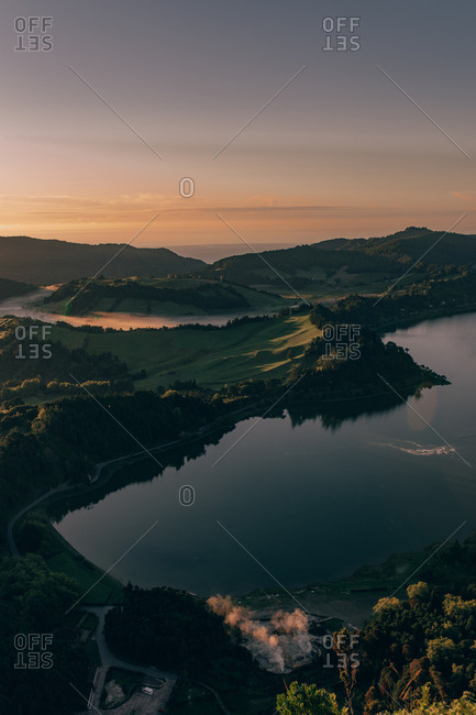Pure lake and high hills