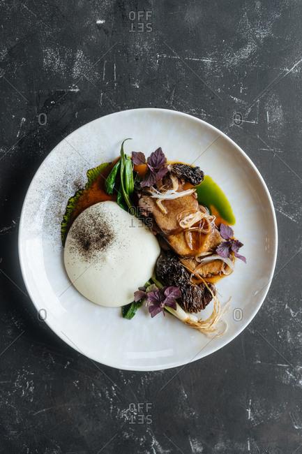 Gourmet mushroom dish