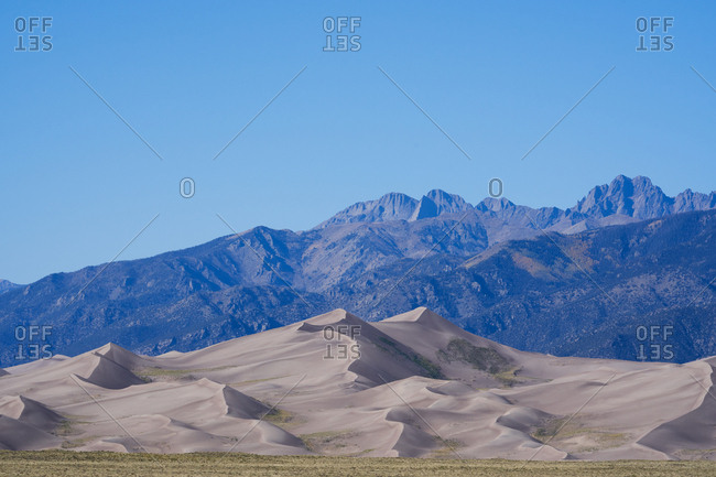 Blue sky over Great Sand Dunes National Park and Preserve, Colorado
