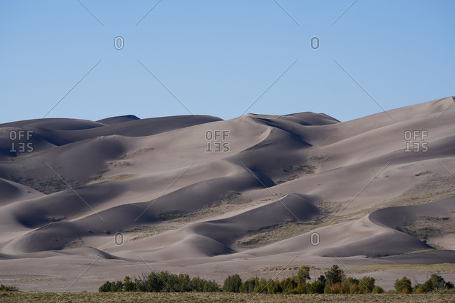 Hills and sand dunes at Great Sand Dunes National Park, Colorado