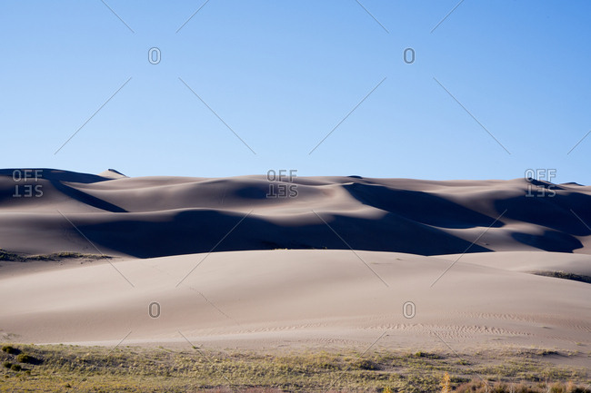 Sand formations at Great Sand Dunes National Park and Preserve, Colorado