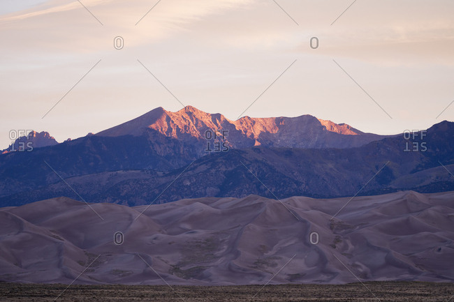 Mountains at Great Sand Dunes National Park and Preserve, Colorado