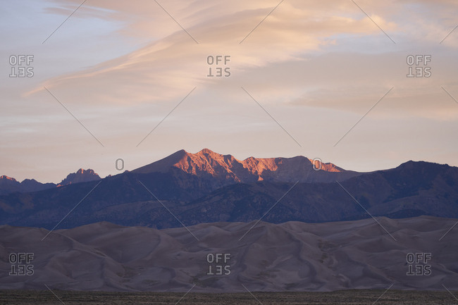 Sunset at Great Sand Dunes National Park and Preserve, Colorado