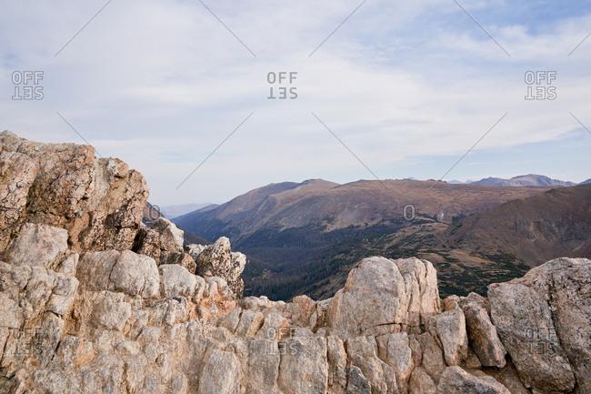 Rocky landscape at Rocky Mountain National Park, Colorado