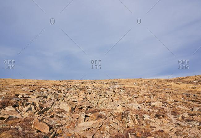 Rocky mountainside at Rocky Mountain National Park, Colorado