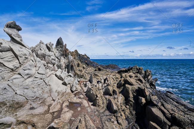 Rock formations on the coast of Maui, Hawaii
