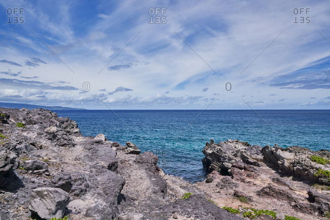 Rocky coastline, Maui, Hawaii - Offset