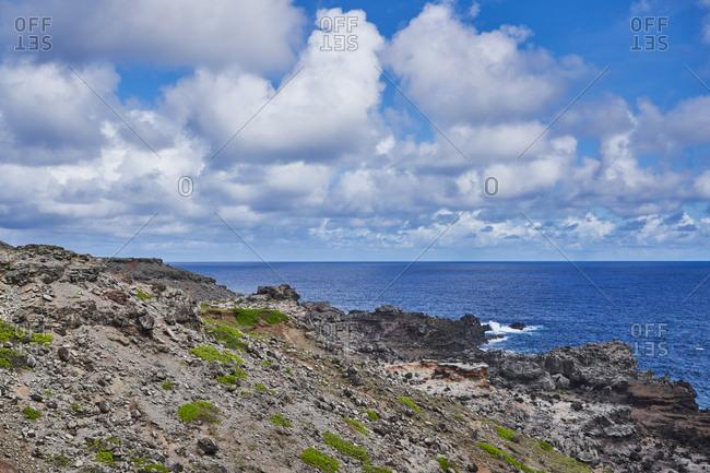 Rocky coast on an island
