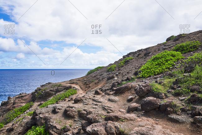 Rocky coast on the island of Maui, Hawaii