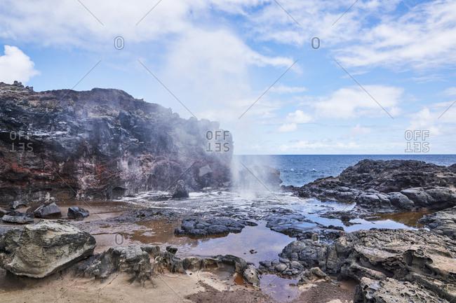 Nakalele Blowhole, Maui, Hawaii - Offset