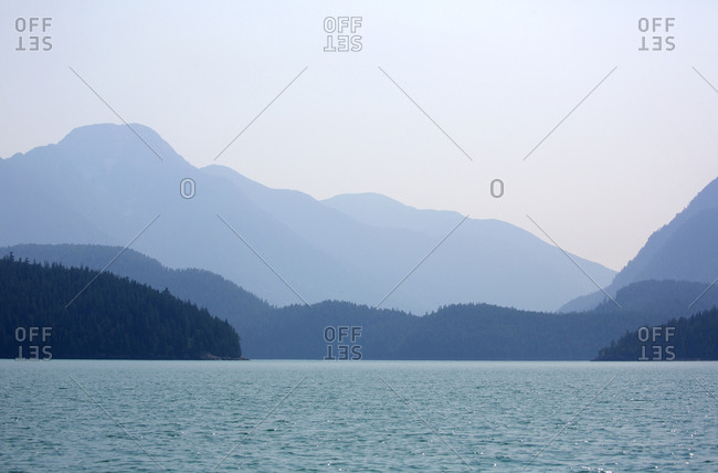 Scenic view of inlet park on Desolation Sound