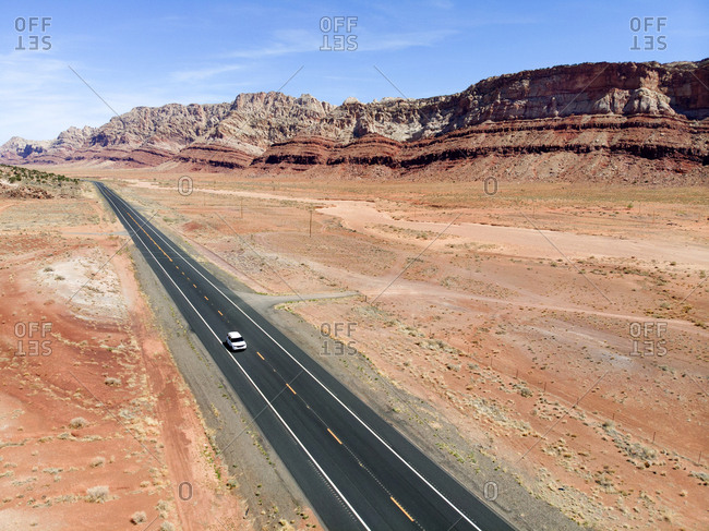 Highway through Canyonlands National Park