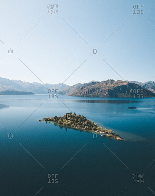 Amazing view of mountains and lake
