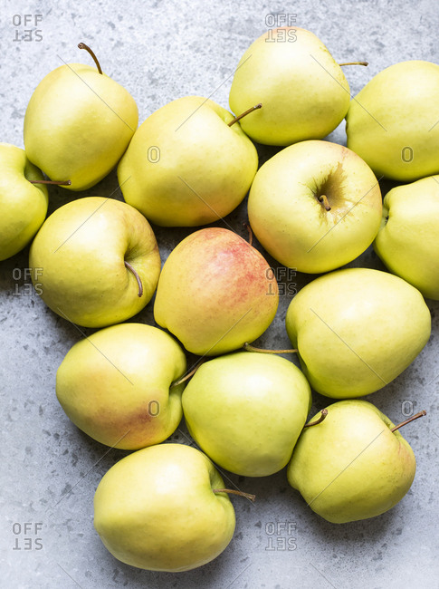 Close up of yellow apples