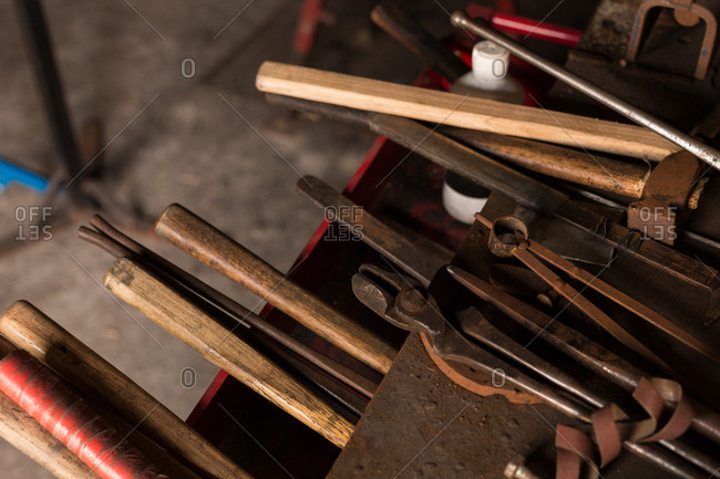 Various tools in factory