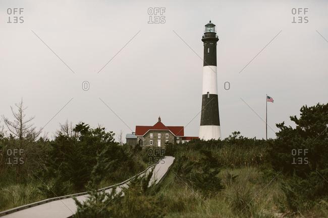 East coast lighthouse fire Island, NY
