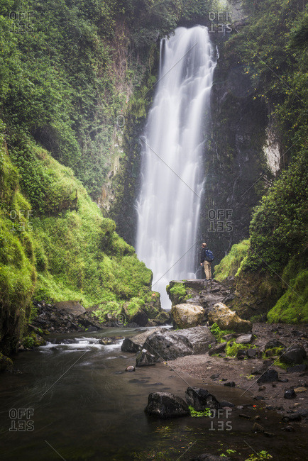 Ecuador, Imbabura, Otavalo, Peguche Waterfall (Cascadas de Peguche)