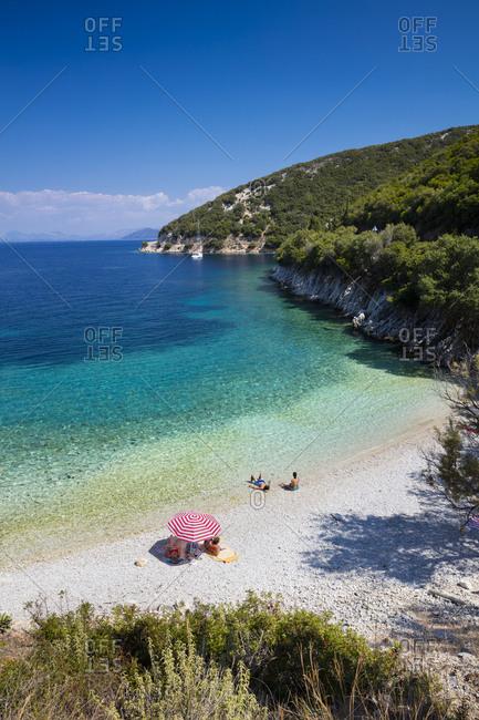 Greece, Ionian Islands, Ithaca, Mediterranean sea, Ionian sea, Greek Islands, Beach between Frikes and Kioni
