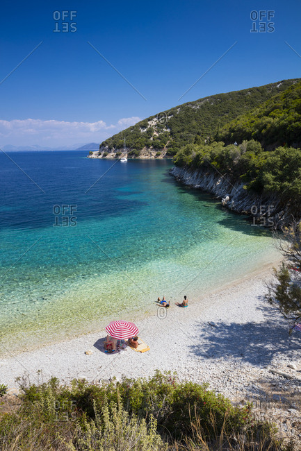 Greece, Ionian Islands, Ithaca, Mediterranean sea, Ionian sea, Greek Islands, Beach between Frikes and Kioni