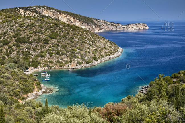 Greece, Ionian Islands, Ithaca, Mediterranean sea, Ionian sea, Greek Islands, Sarakiniko bay