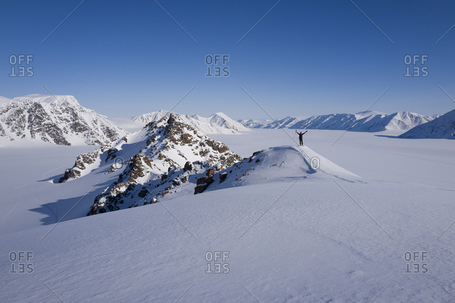 Norway, Svalbard Islands, Spitsbergen, Scandinavia, Skitouring in the Atomfjella mountains