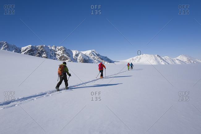 Norway, Svalbard Islands, Spitsbergen, Scandinavia, Skitouring in the Atomfjella mountains