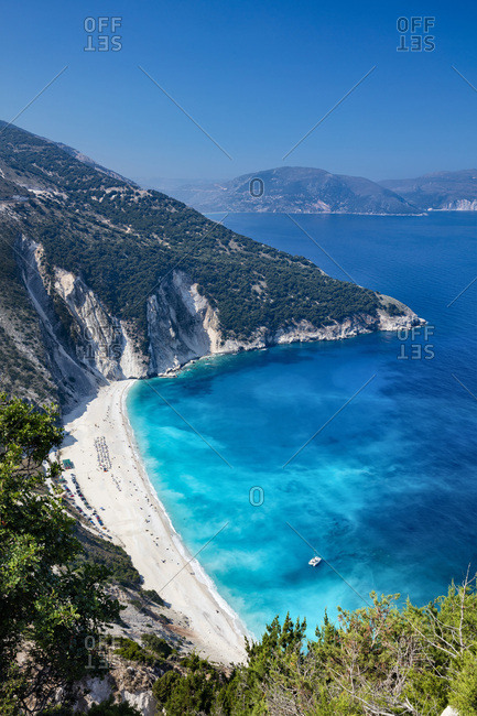 Greece, Ionian Islands, Cephalonia Island, Kefalonia, Myrtos beach