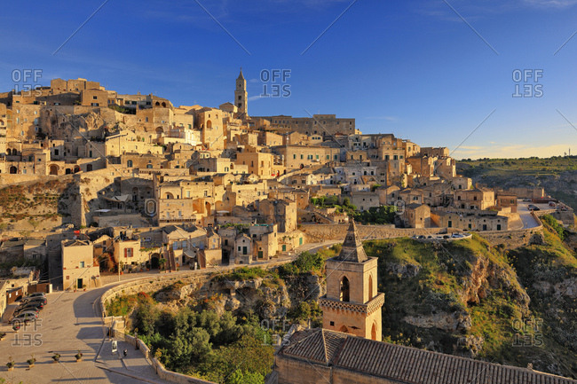 May 2, 2017: Italy, Basilicata, Matera district, Matera, View of the Sasso Caveoso in the Unesco listed I Sassi neighborhood