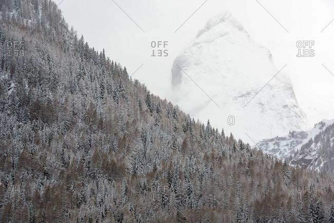 Punta Serauta mount in the Marmolada mountain range, Dolomites, Italy