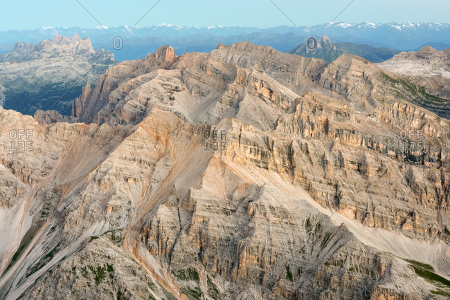 Summer landscape from the top of Tofana di Mezzo, 3244 m, Cortina d'Ampezzo, Dolomites, Italy