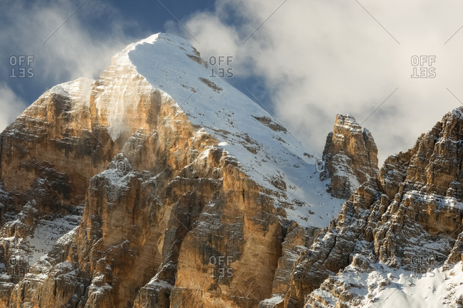 Tofana mount in the winter, Cortina d'Ampezzo, dolomites, Italy, Europe