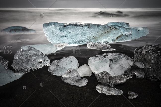 Jokulsarlon ice beach, Iceland, Europe