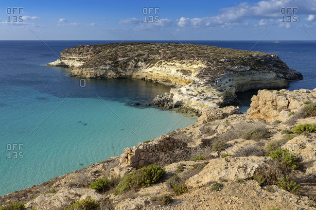 Conigli island, Lampedusa, Sicily, Italy