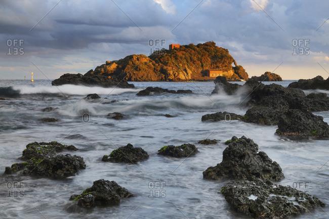 Ciclopi archipelago, Lachea island and Faraglioni, Aci Trezza, Sicily, Italy