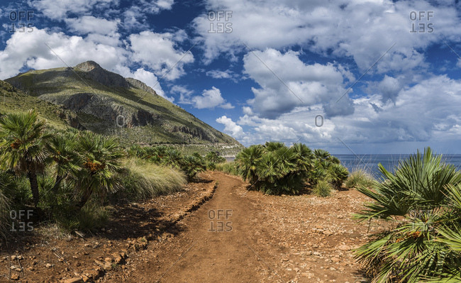 Pathway in the Zingaro nature reserve, San Vito Lo Capo, Sicily, Italy