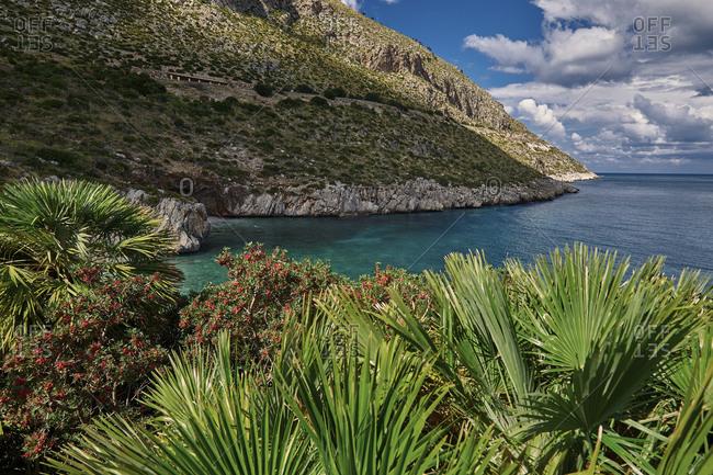 Cala Tonnarella dell'Uzzo bay in the Zingaro nature reserve, Sicily, Italy
