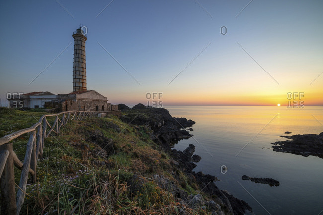 Lighthouse of Punta Cavazzi, Ustica, Sicily, Italy