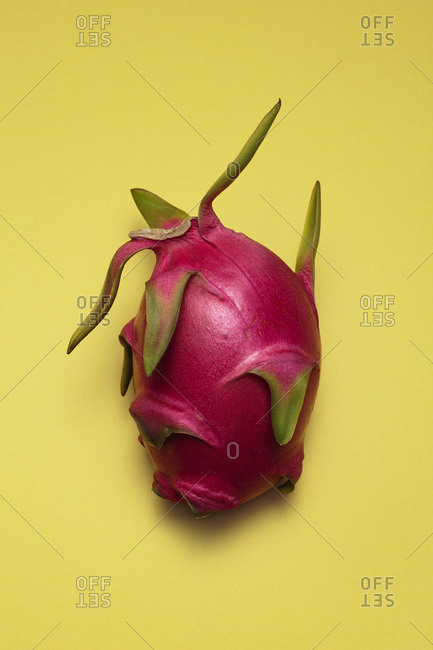 Dragon Fruit on Yellow Background