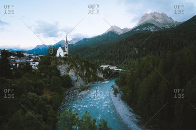 Beautiful Valley in the Engadine, Switzerland