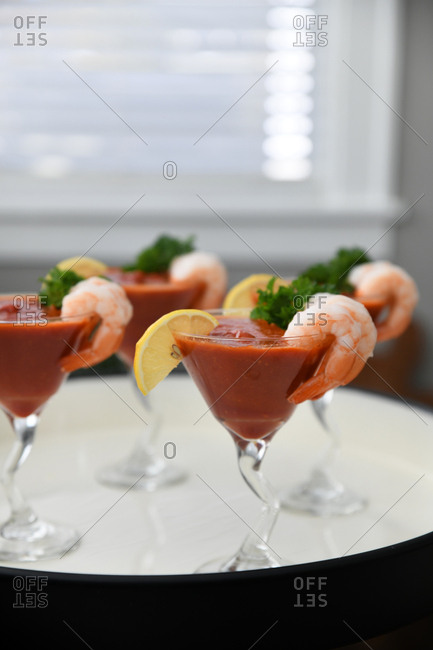 Shrimp cocktail drink