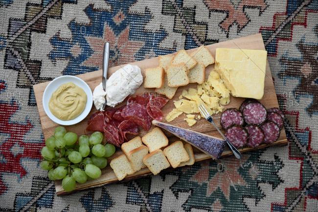 Charcuterie board appetizer