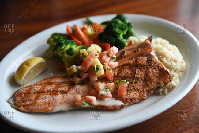 Fish fillet dinner
